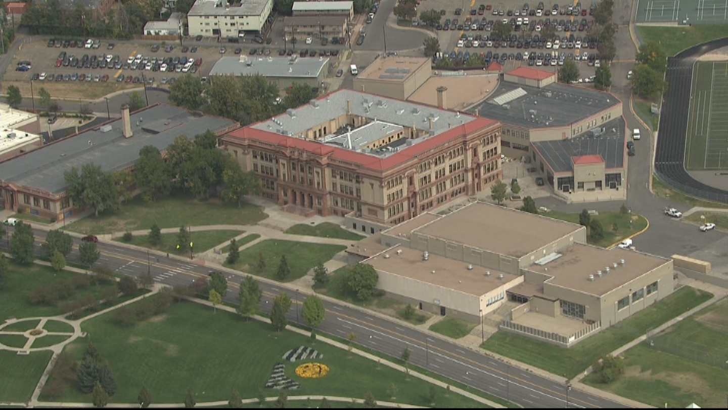 Copter4 flew over North High School on Wednesday (credit: CBS)