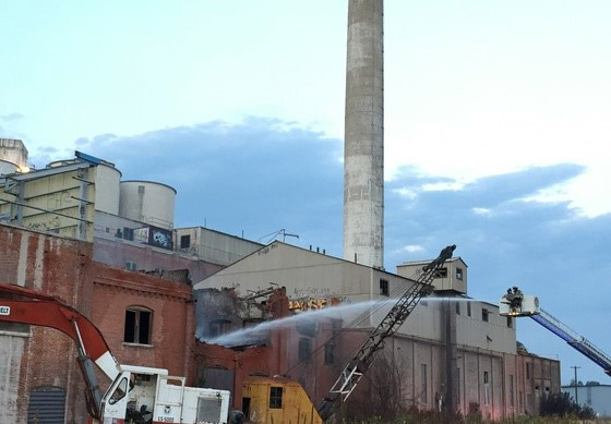 The abandoned sugar mill that caught fire (credit: Boulder County)