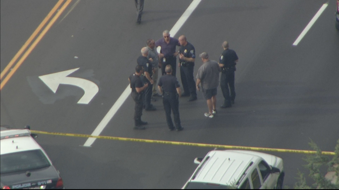 Copter4 flew over the officer-involved shooting in Westminster. (credit: CBS)