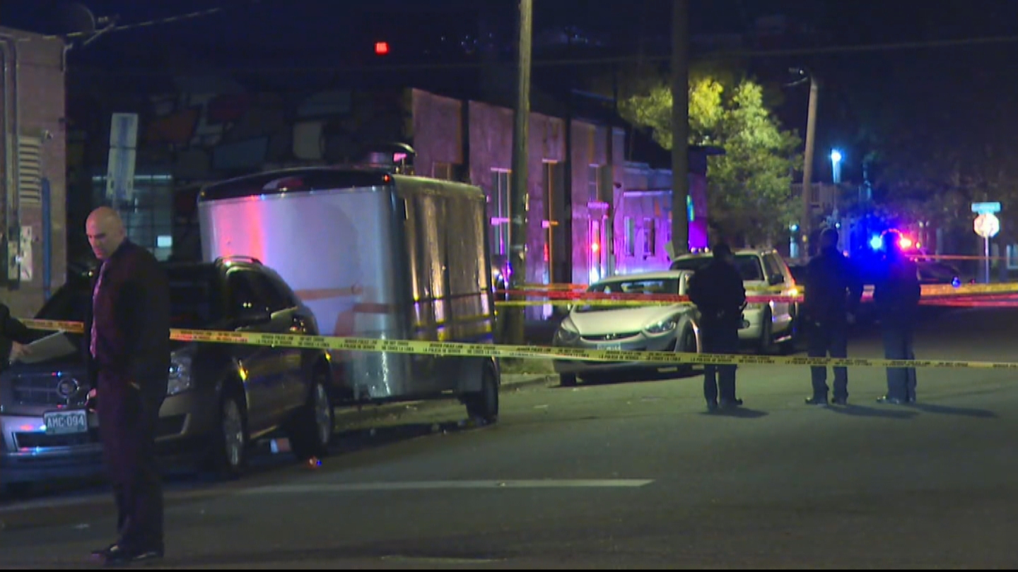 Police investigated a deadly shooting in the RiNo neighborhood on Monday morning (credit: CBS)
