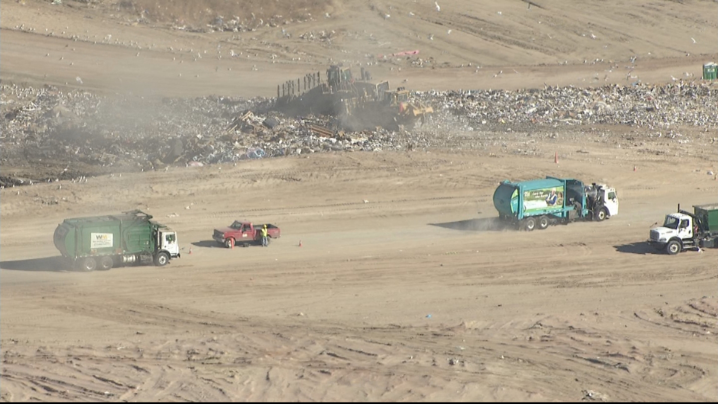 Copter4 flew over the landfill in Ault (credit: CBS)