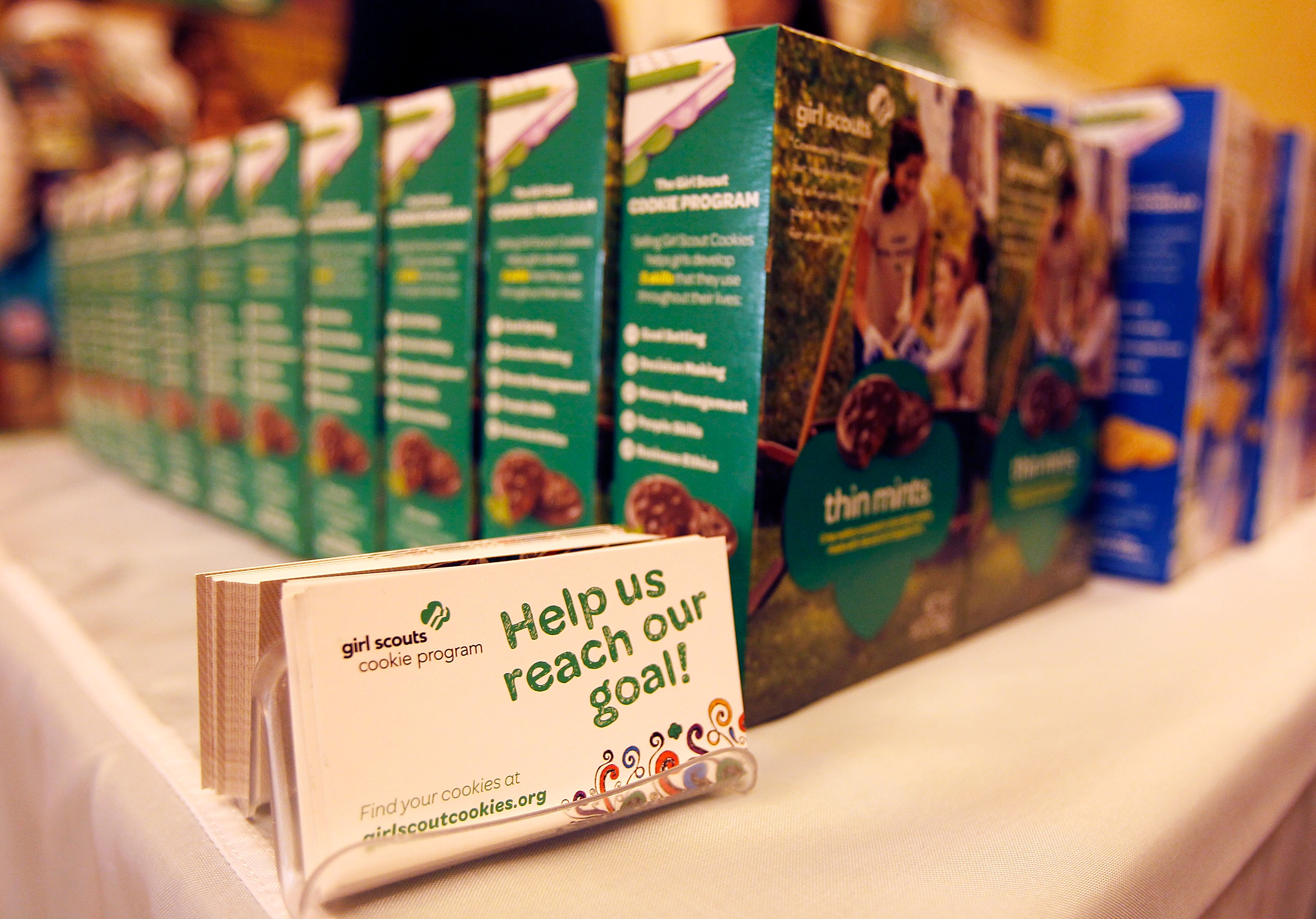 Girl Scout Cookies (Photo by Paul Morigi/Getty Images for Girl Scouts of the USA)