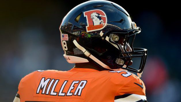SAN DIEGO, CA - OCTOBER 13: Von Miller #58 of the Denver Broncos warms up before the game against the San Diego Chargers at Qualcomm Stadium on October 13, 2016 in San Diego, California. (Photo by Harry How/Getty Images)