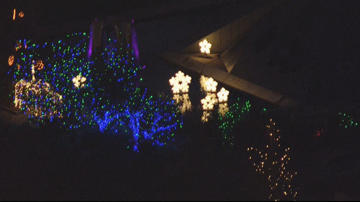 Blossoms of Light as seen from Copter 4 (credit: CBS)