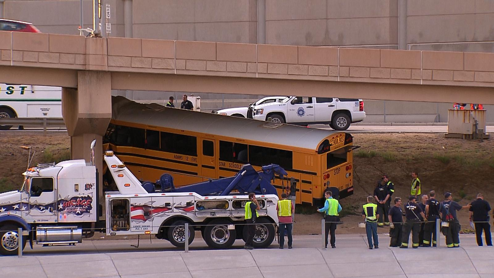 The crash at DIA (credit: CBS)