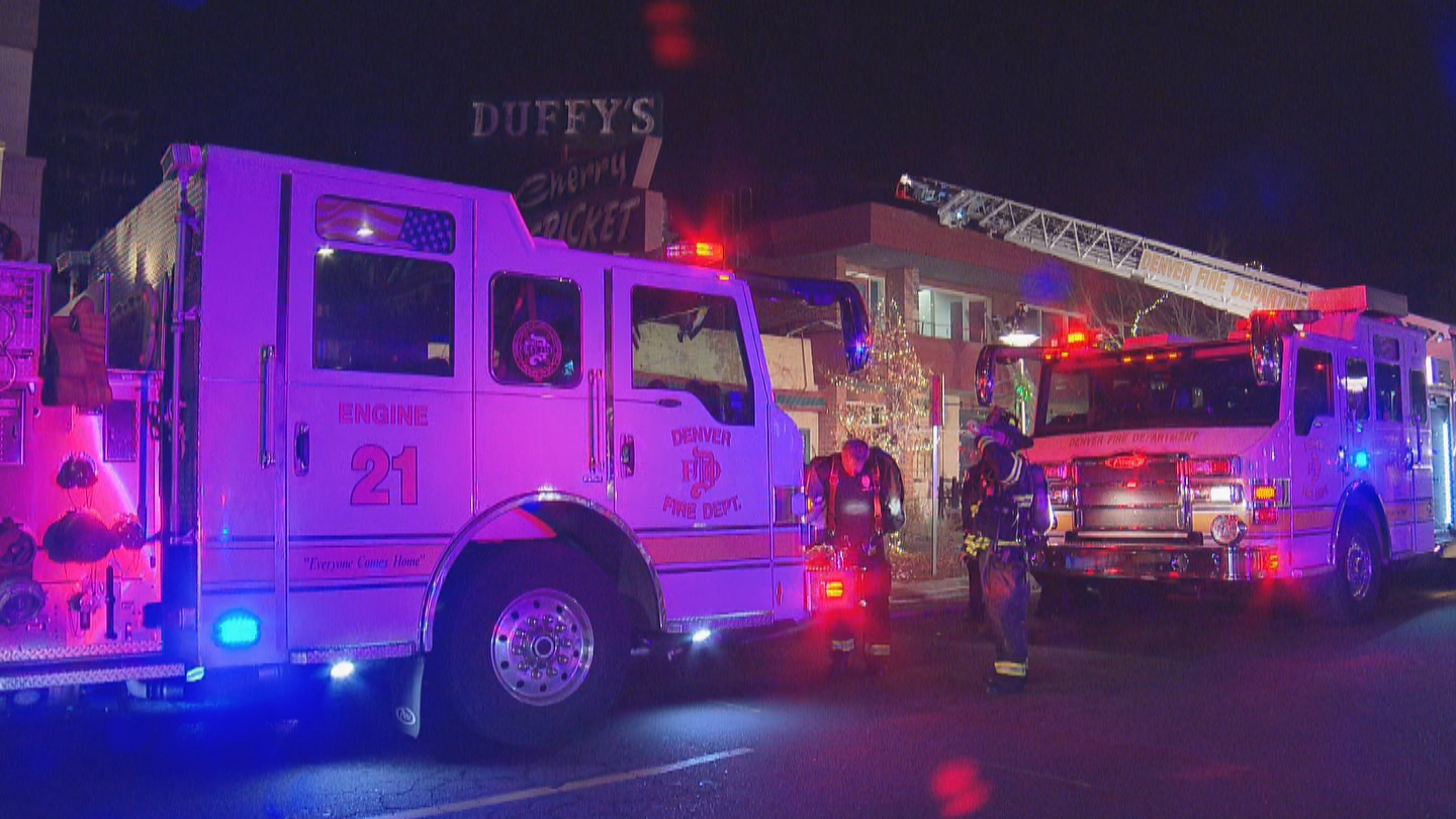 Firefighters rushed to a kitchen fire at the Cherry Cricket on Wednesday night (credit: CBS)