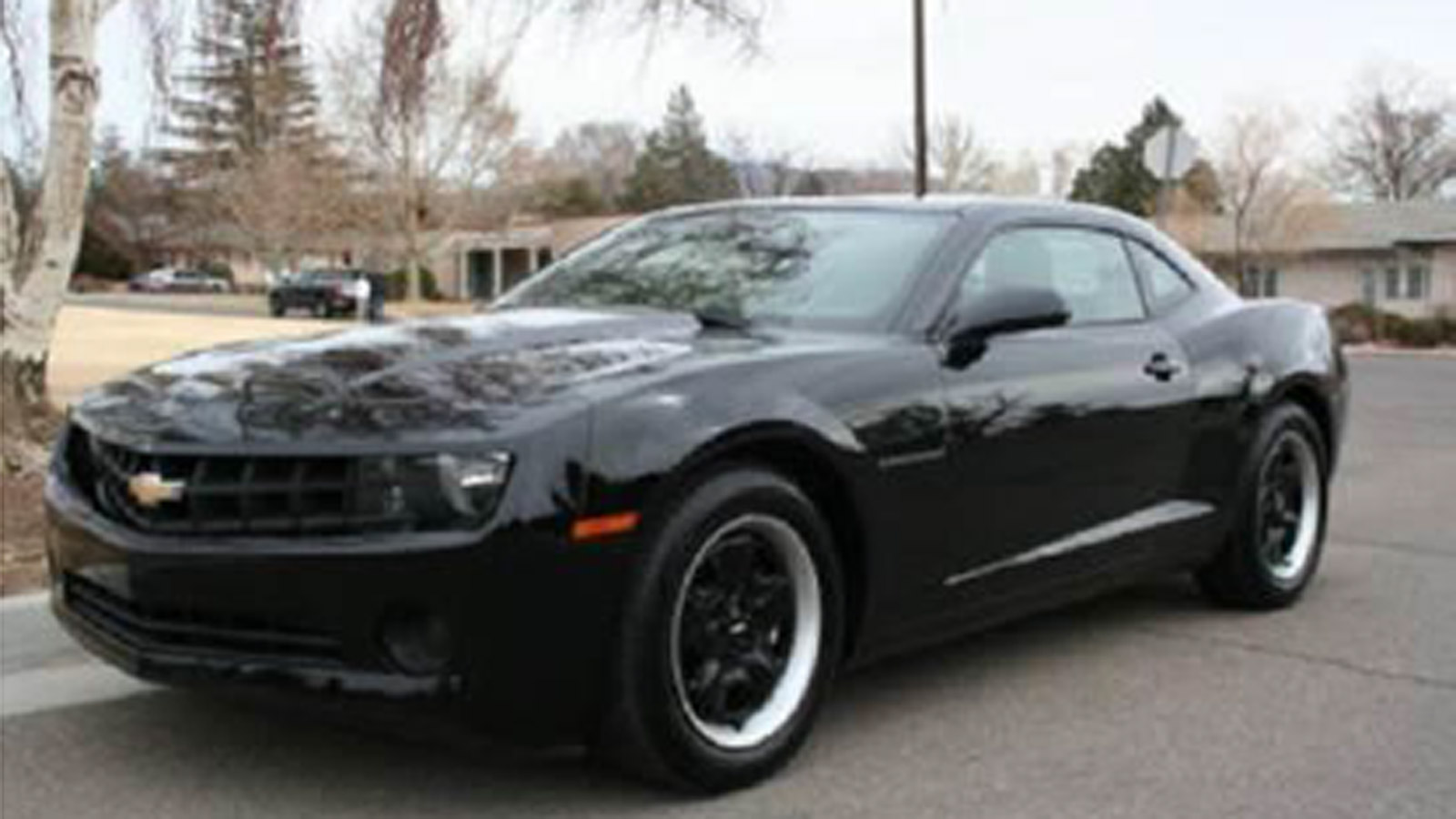 A Chevy Camero like the suspect vehicle wanted in a deadly shooting in the Baker Neighborhood in July (credit: Denver Police)