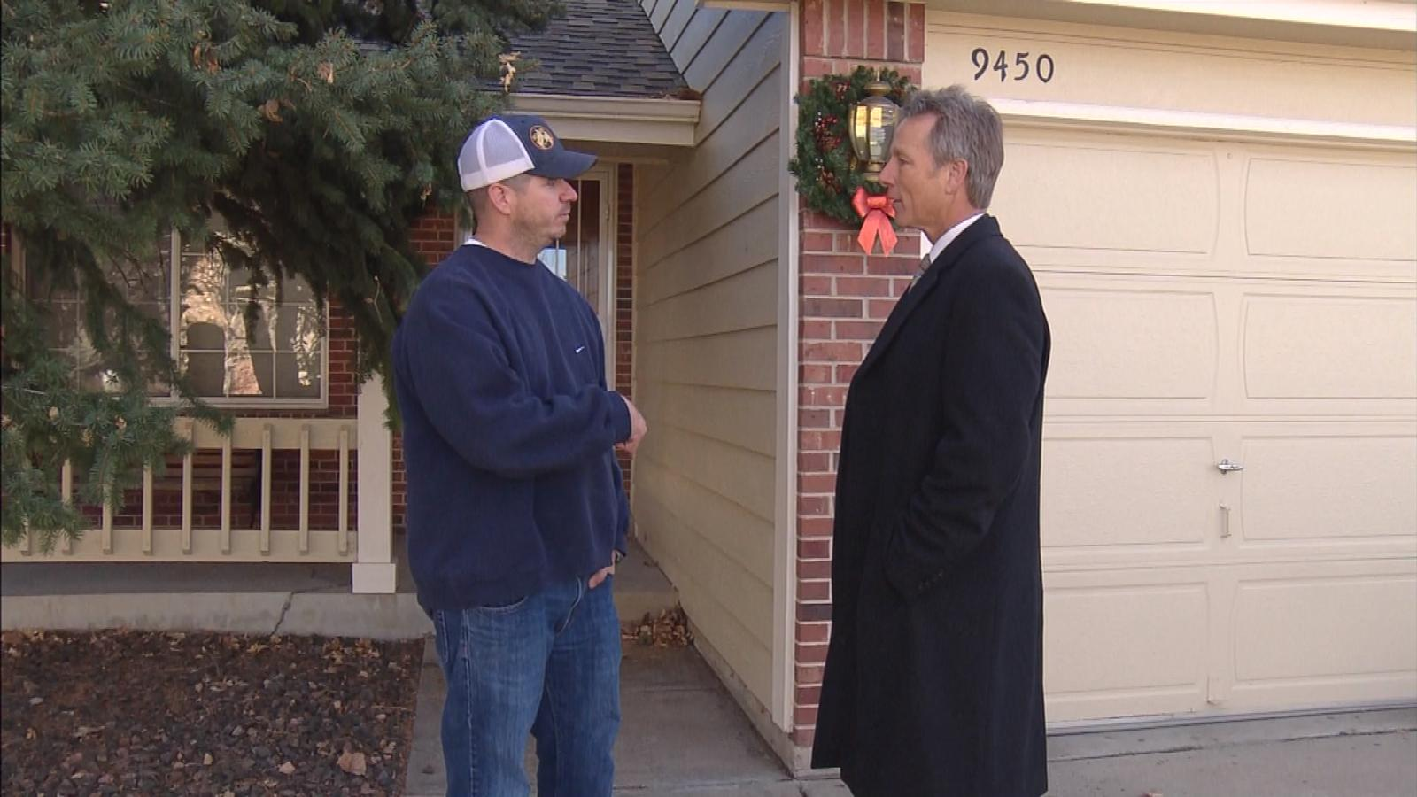 Neighbor Brian Deulley is interviewed by CBS4's Tom Mustin (credit: CBS)