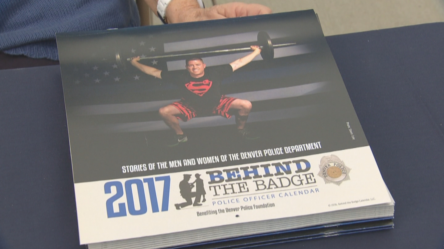 Denver Police Sgt. Tony Lopez graces the cover of the first DPD calendar (credit: CBS)