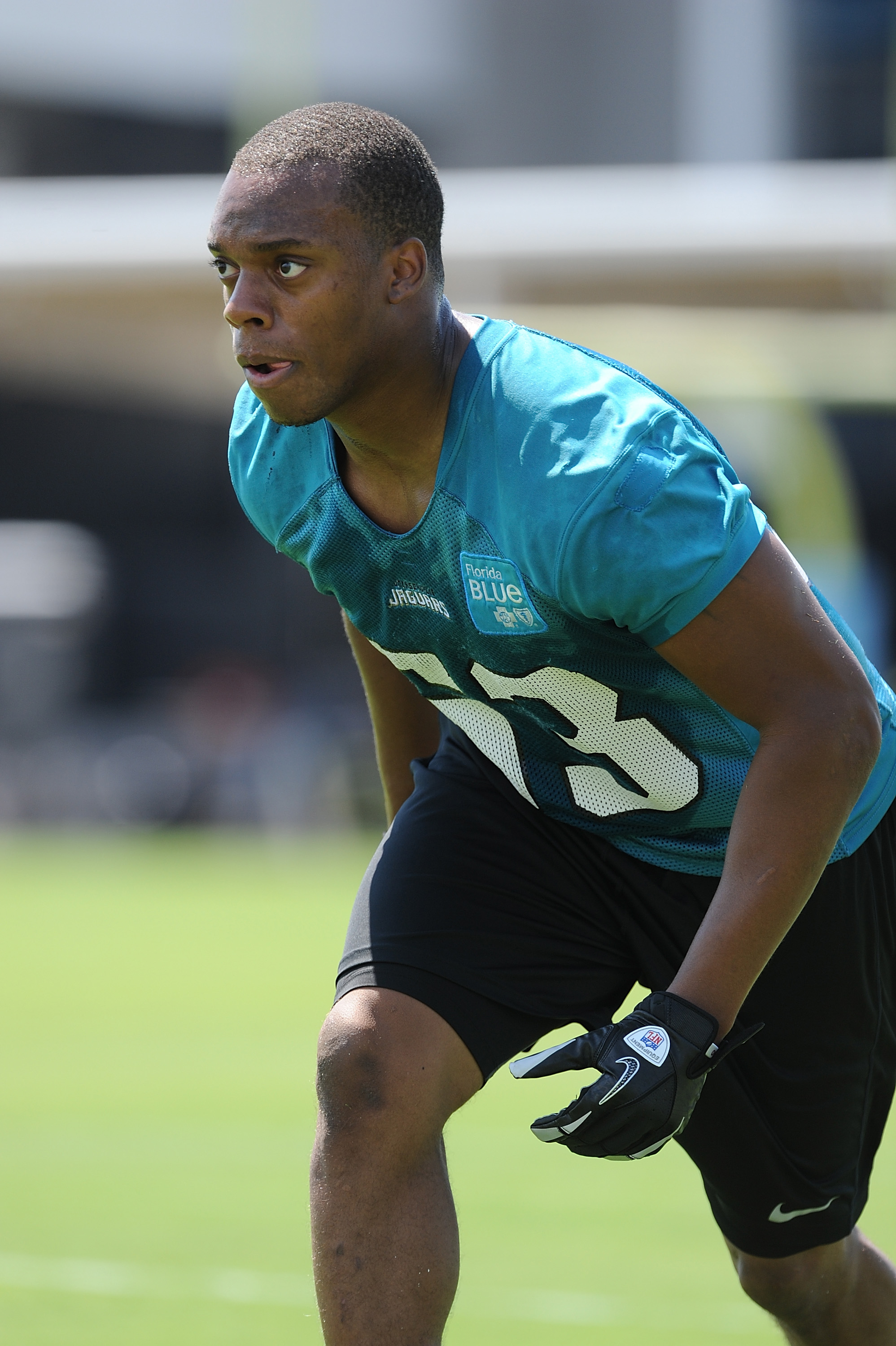 Linebacker Brandon Marshall during Jacksonville Jaguars Minicamp at EverBank Field on May 5, 2012 in Jacksonville, Florida. (credit: Rick Dole/Getty Images)