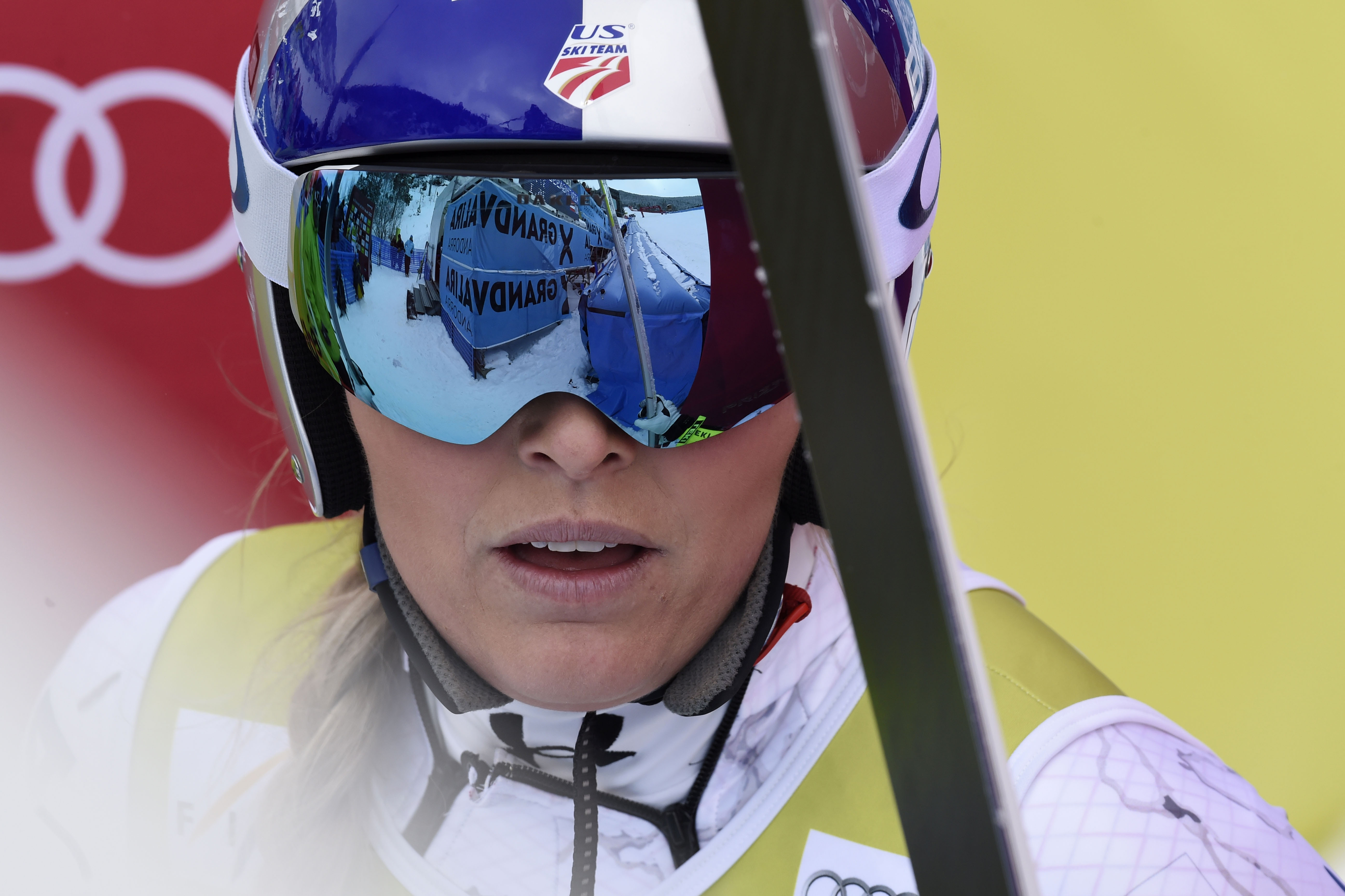 Lindsey Vonn of the USA competes during the Audi FIS Alpine Ski World Cup Women's Super Combined on February 28, 2016 in Soldeu, Andorra. (Photo by Alexis Boichard/Agence Zoom/Getty Images)