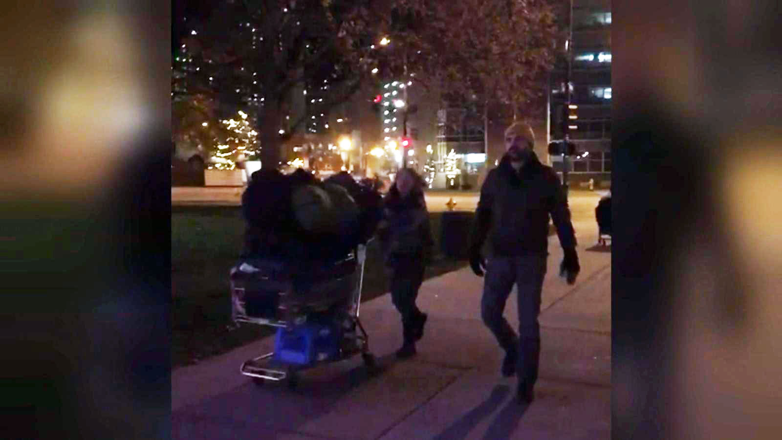 Homeless moving out from in front of the City and County Building (credit: CBS)