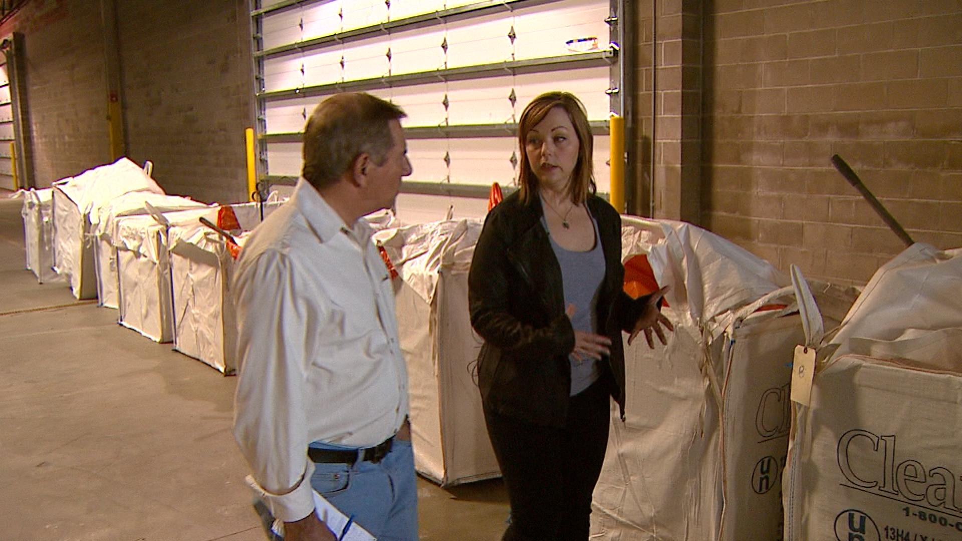 Julie Smith, a spokesperson for the Denver Department of Human, is interviewed by CBS4's Rick Sallinger (credit: CBS)