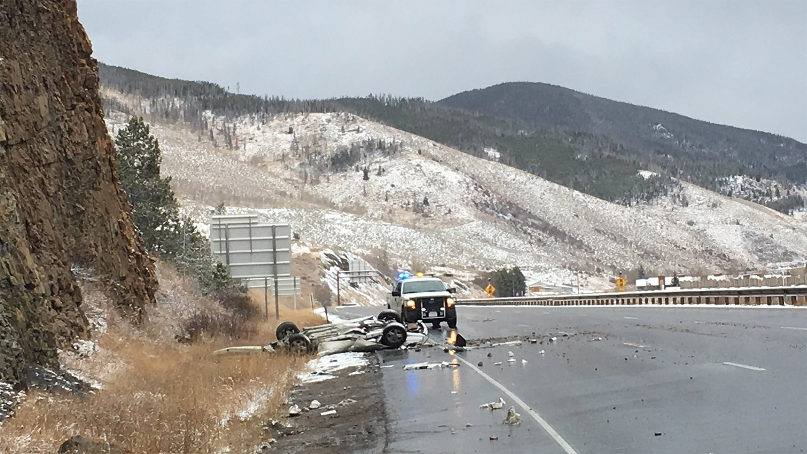A deadly crash on I-70 near Silverthorne (credit: CSP)