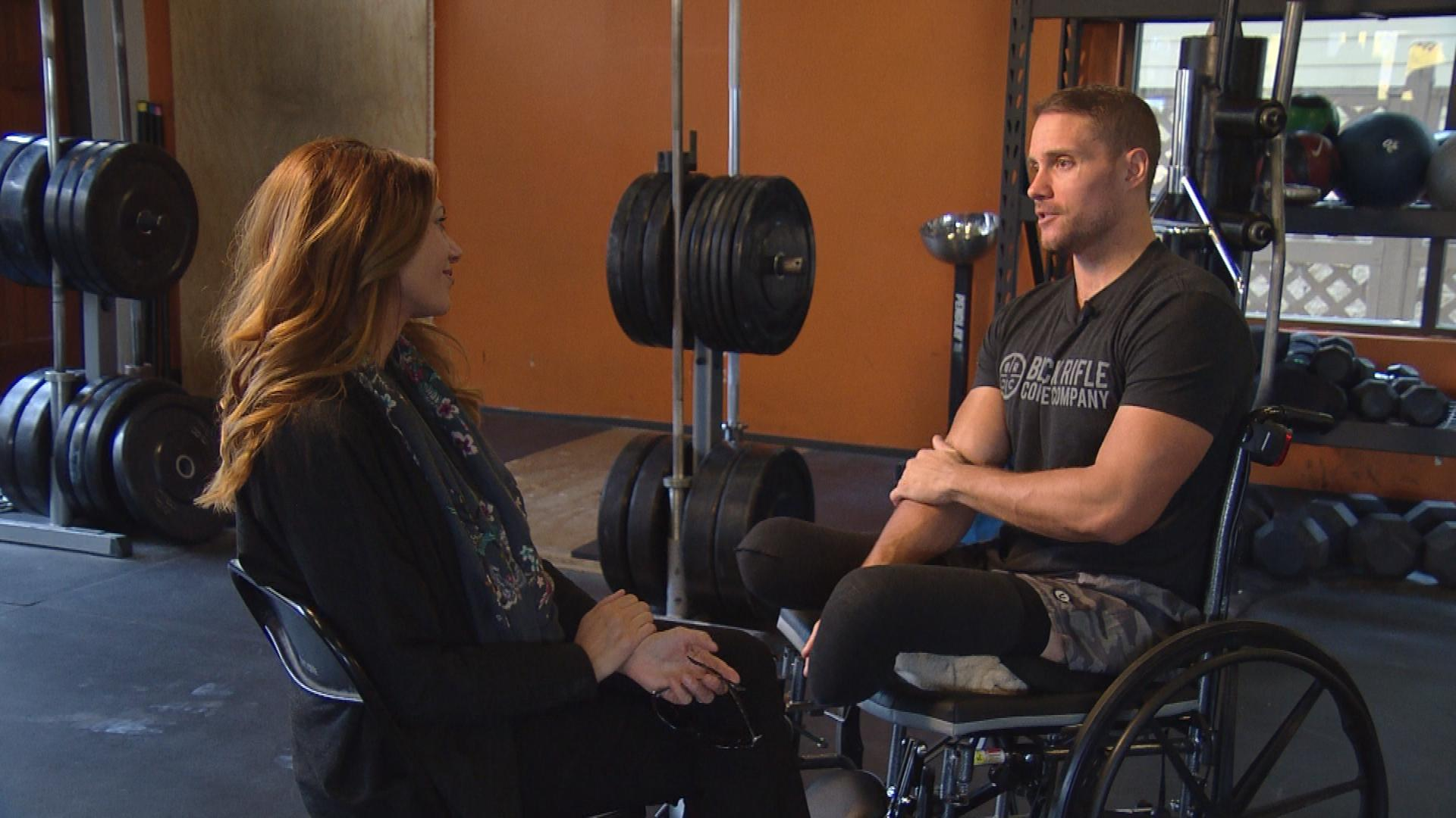 CBS4's Jennifer Brice interviews Craig Towler. (credit: CBS)