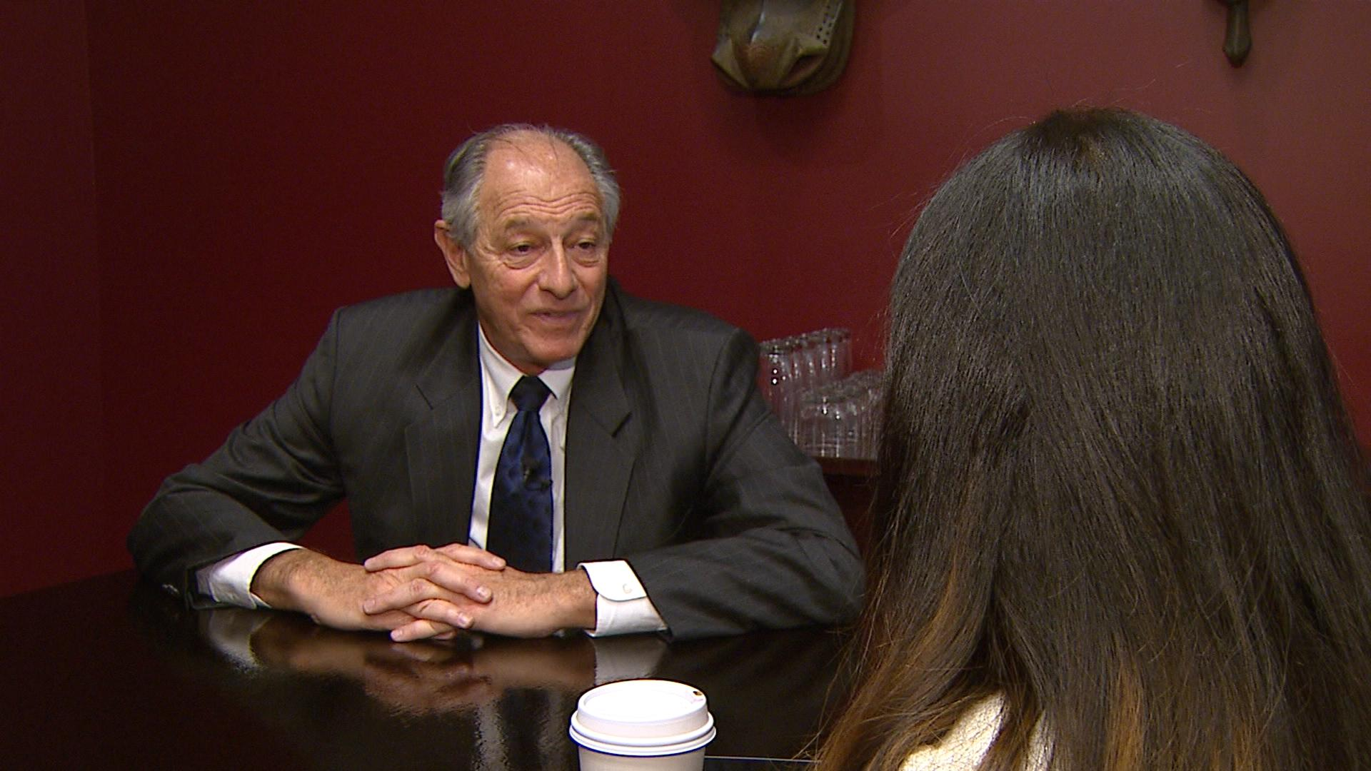 Attorney David Lane is interviewed by CBS4's Andrea Flores (credit: CBS)