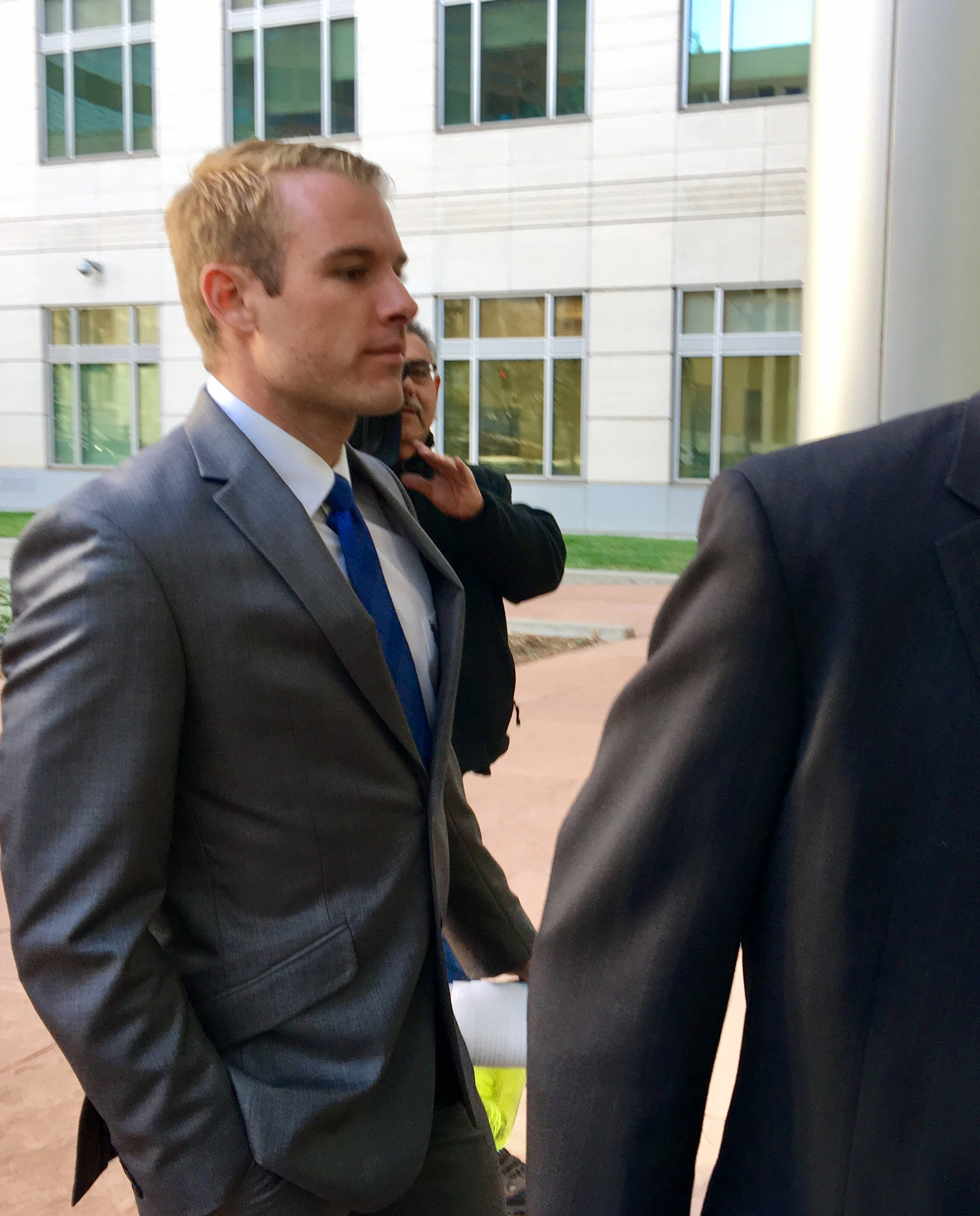 Rocky Allen walks into court for his sentencing on Monday (credit: CBS)