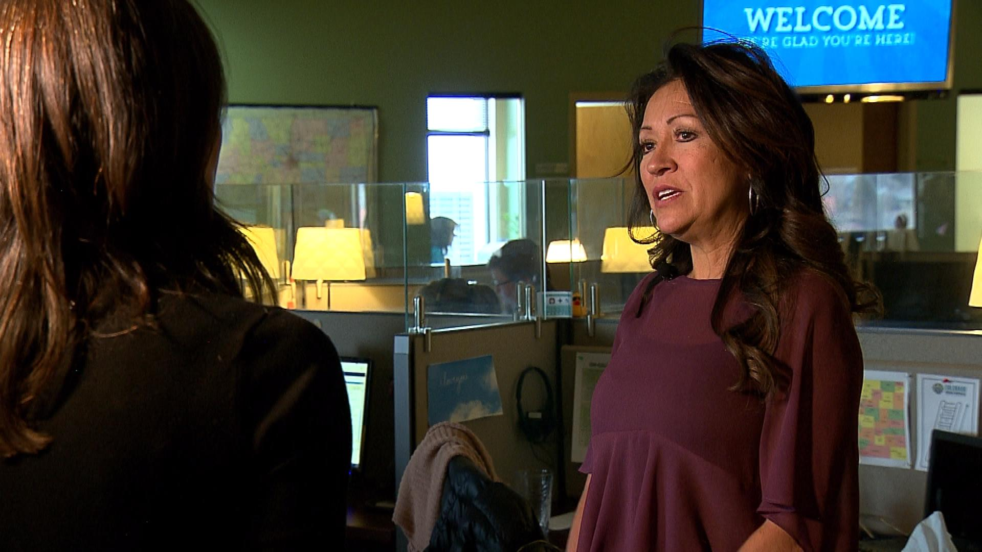 CBS4's Jamie Leary interviews Bev Marquez (credit: CBS)