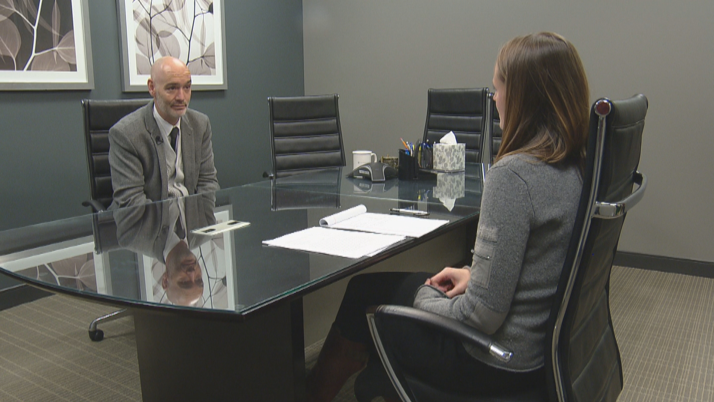 CBS4's Lauren DiSpirito interviews attorney Michael Cheroutes (credit: CBS)