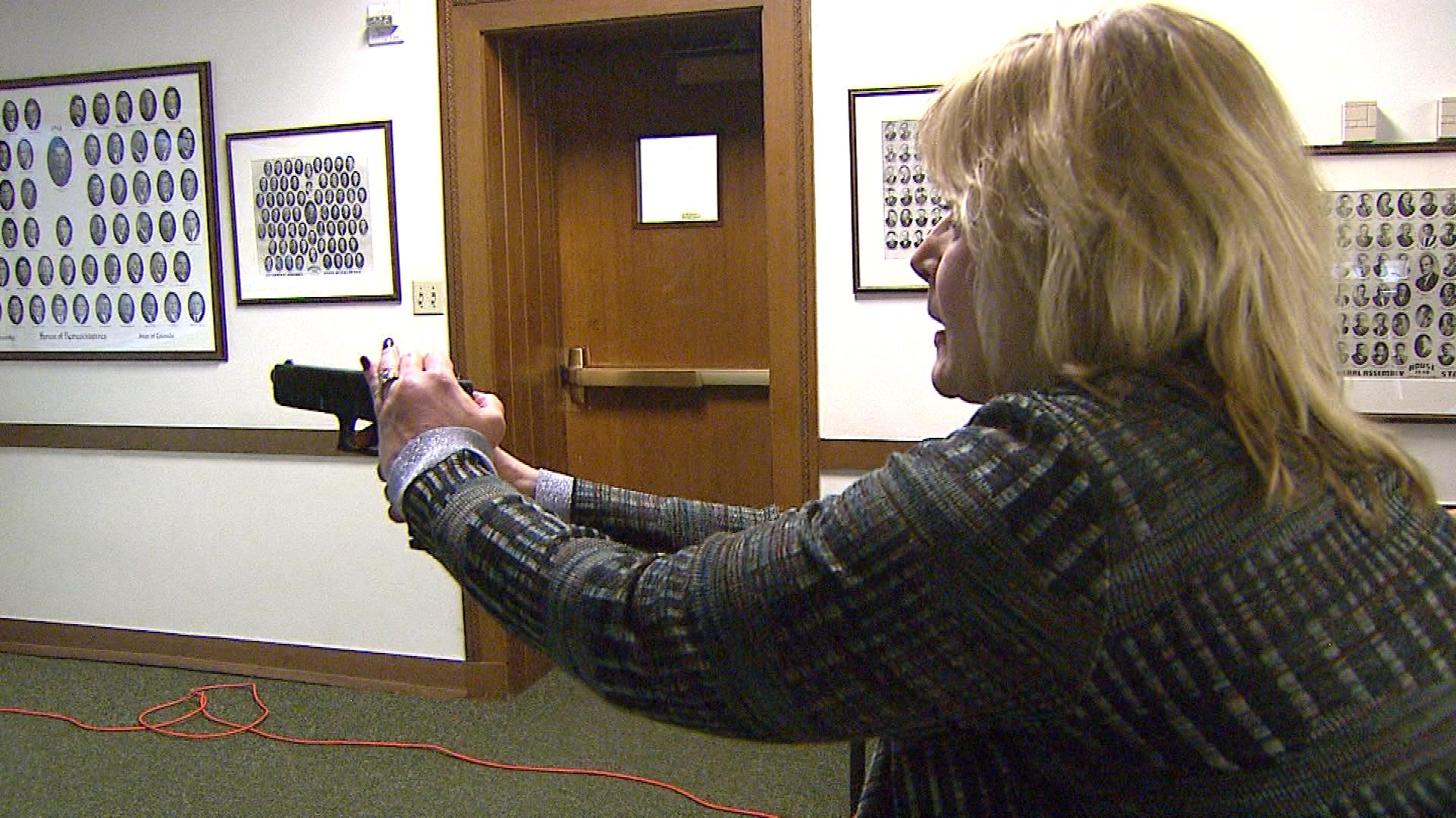 Attorney General Cynthia Coffman takes part in the training. (credit: CBS)