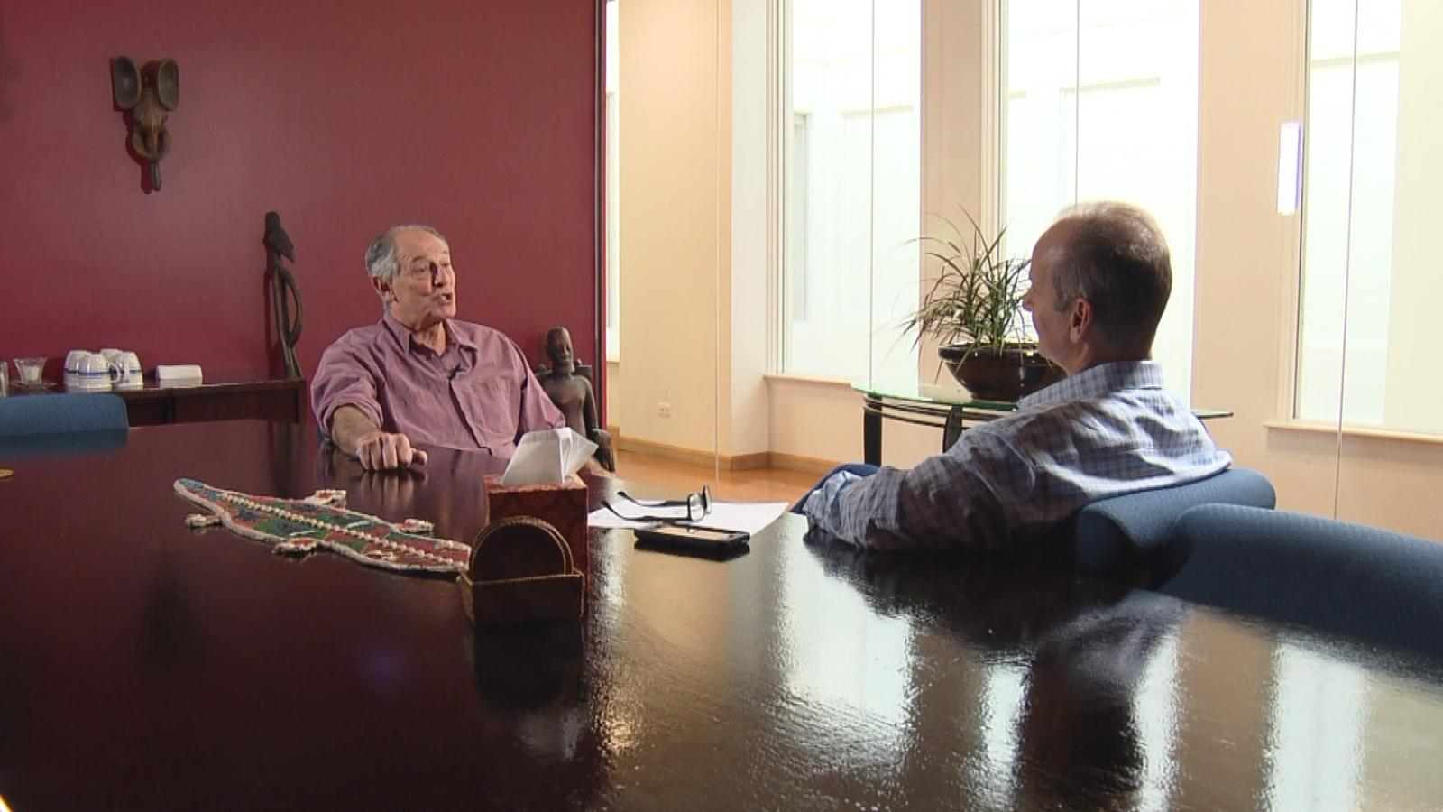CBS4's Brian Maass interviews David Lane. (credit: CBS)