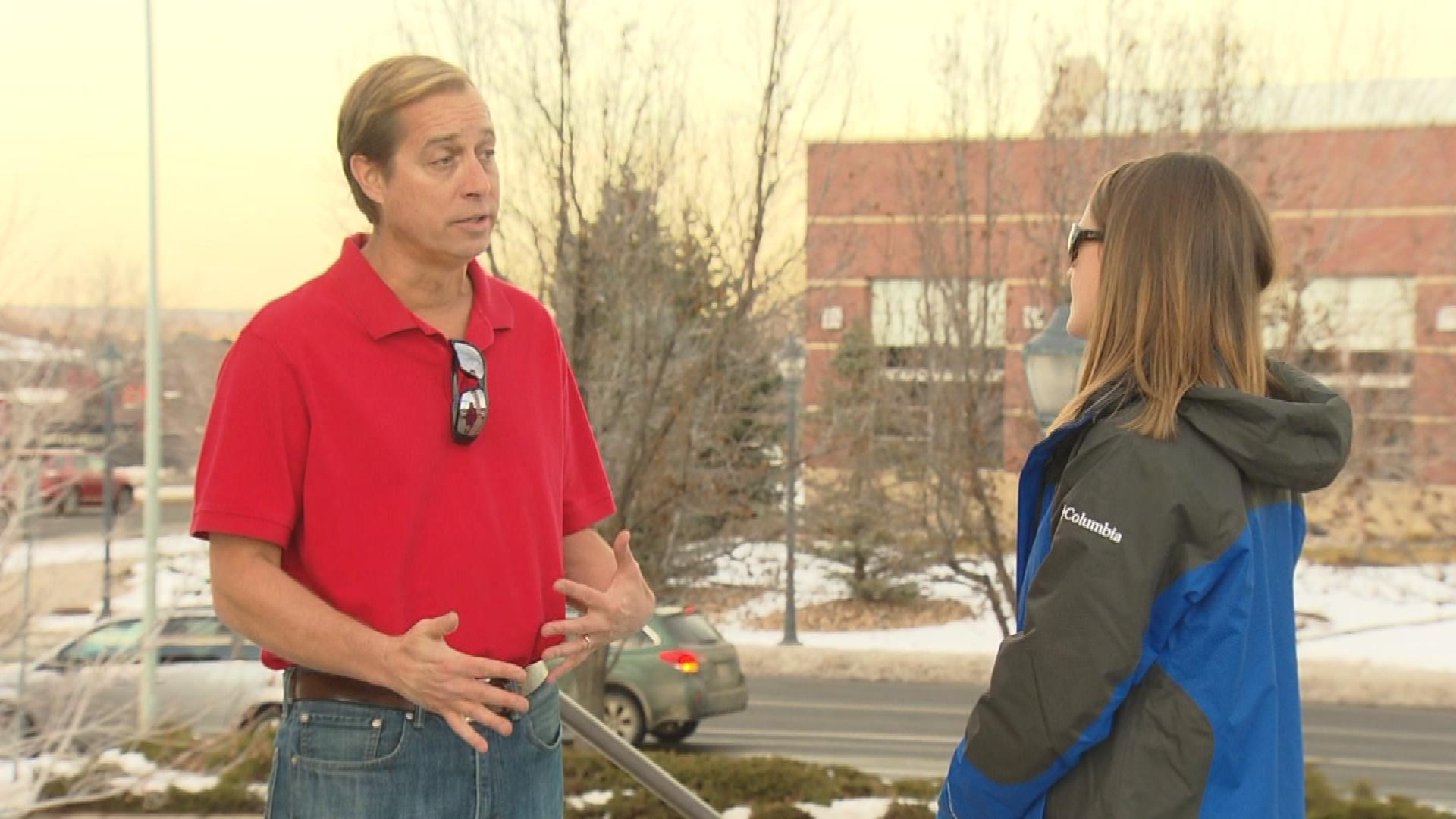 Denver marketing expert Darrin Duber-Smith is interviewed by CBS4's Lauren DiSpirito (credit: CBS)