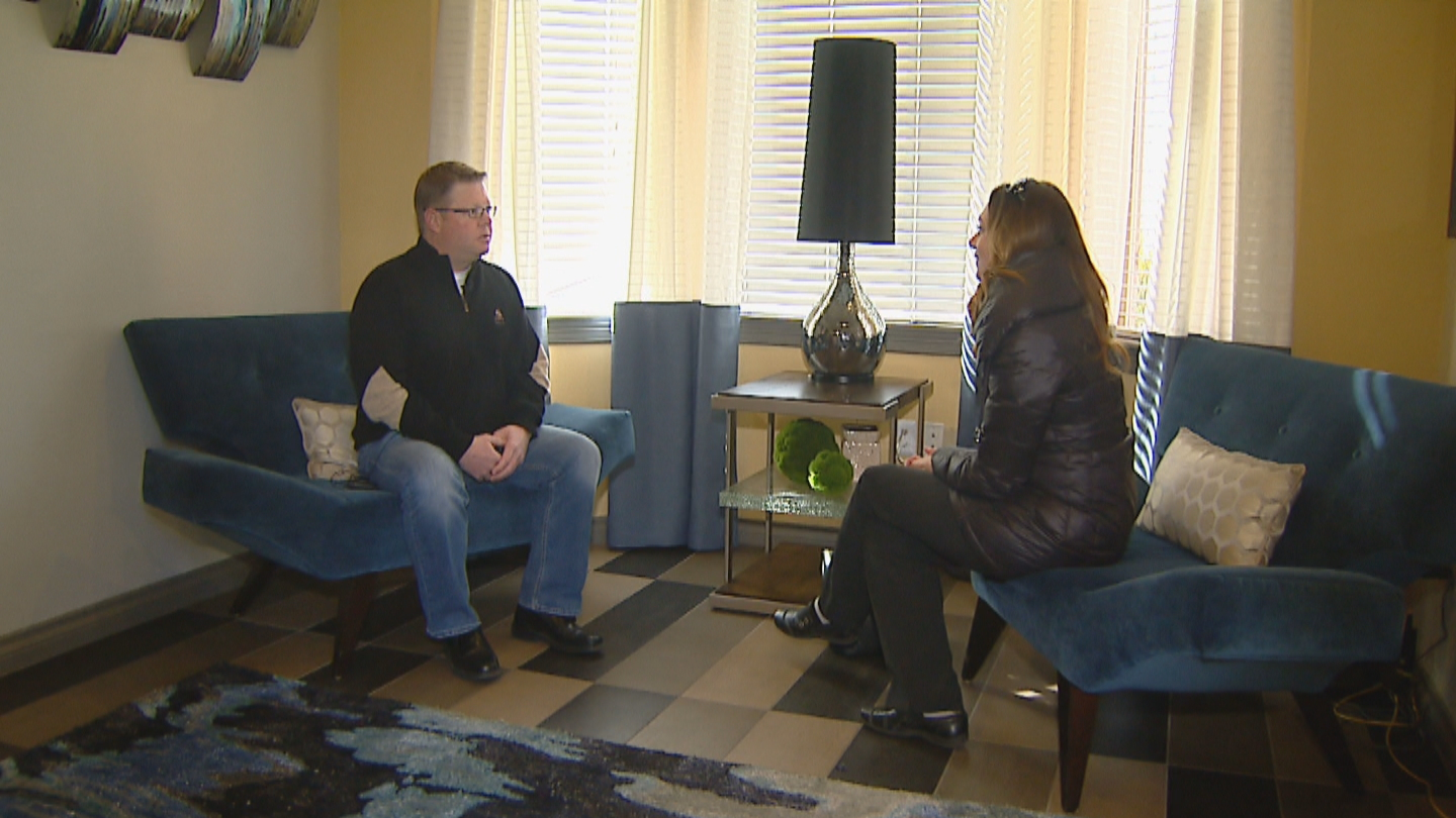 CBS4's Jennifer Brice interviews Kevin White with 420 Philanthropy (credit: CBS)