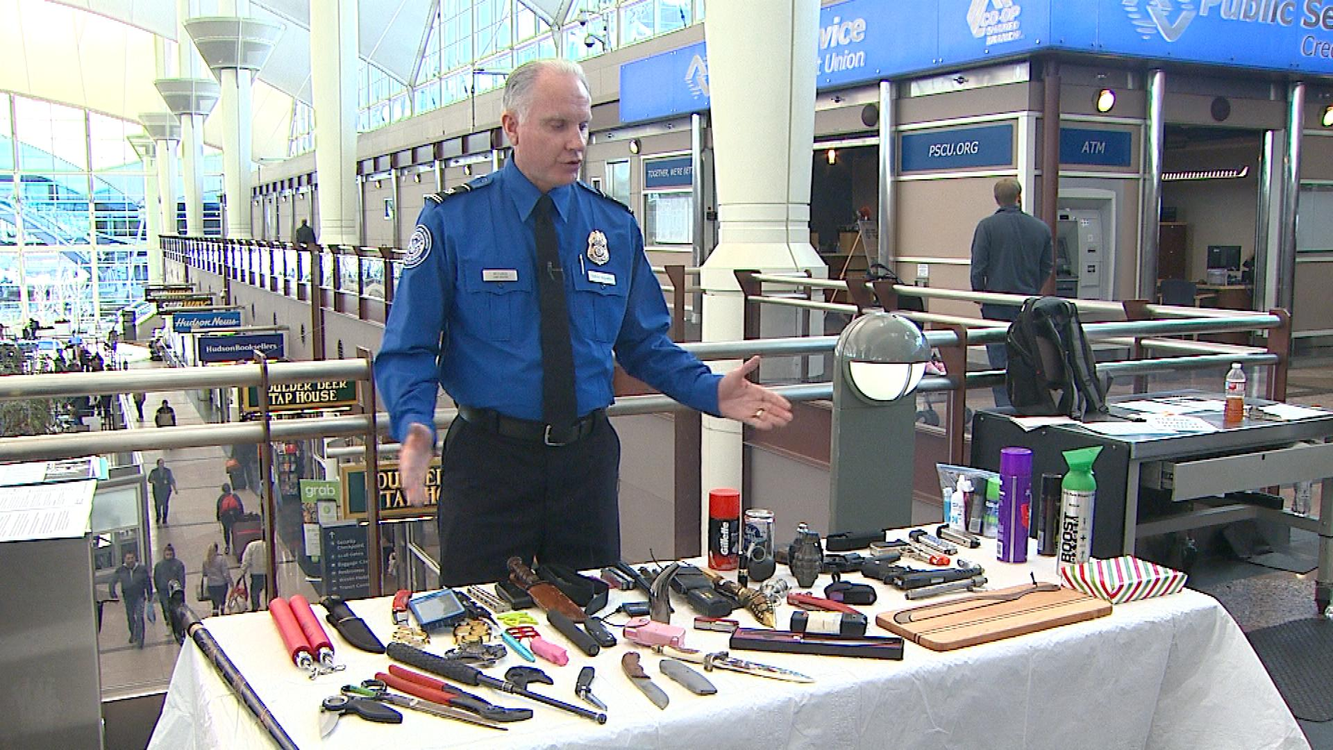 Harold McCurdy with TSA on Monday (credit: CBS)