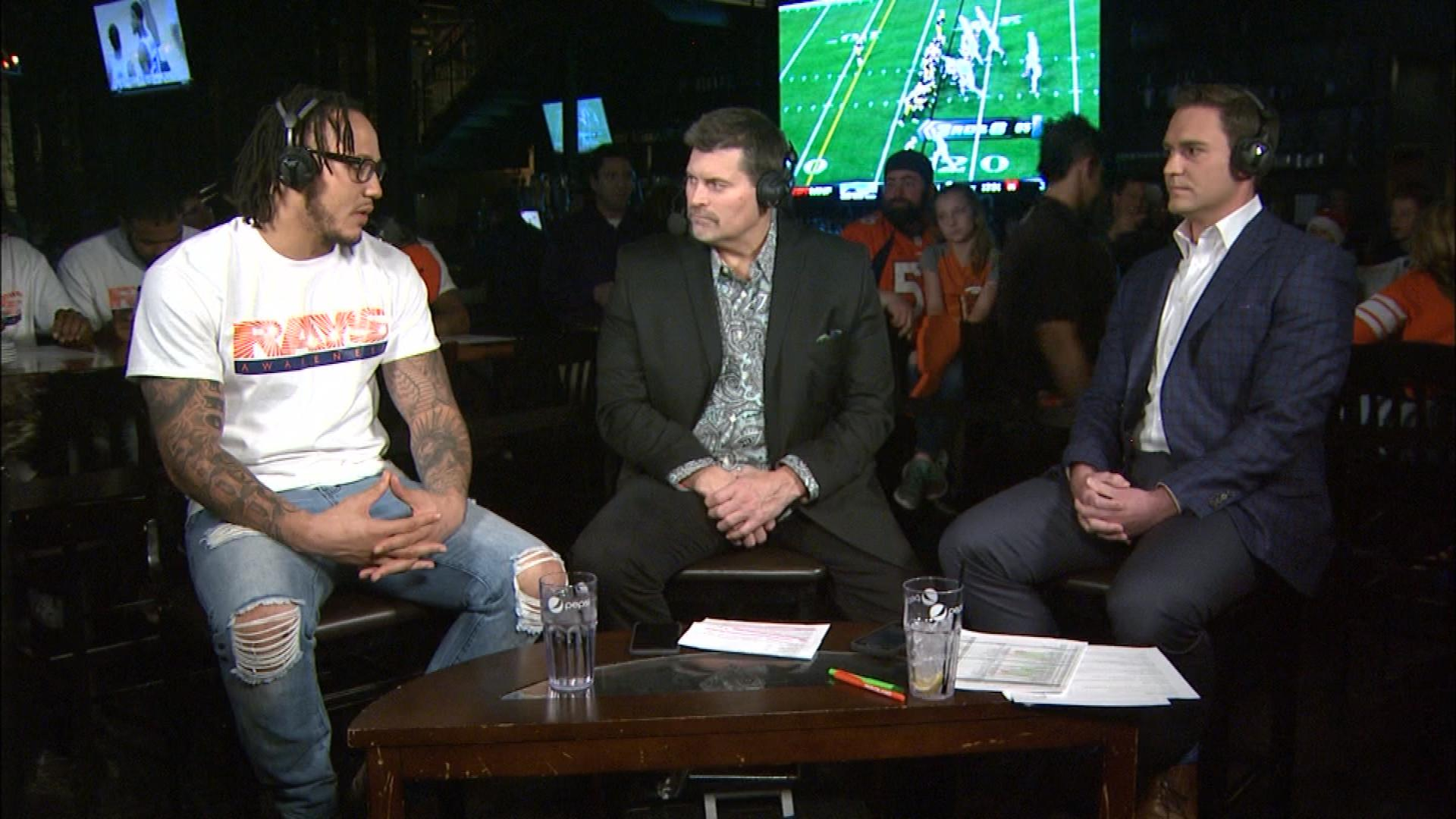 Shane Ray on Xfinity Monday Live with CBS4's Mark Schlereth and Michael Spencer (credit: CBS)