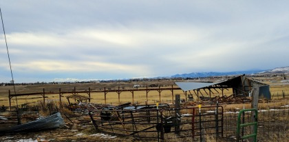 Wind destroyed a barn in Berthoud (credit: Berthoud Fire)