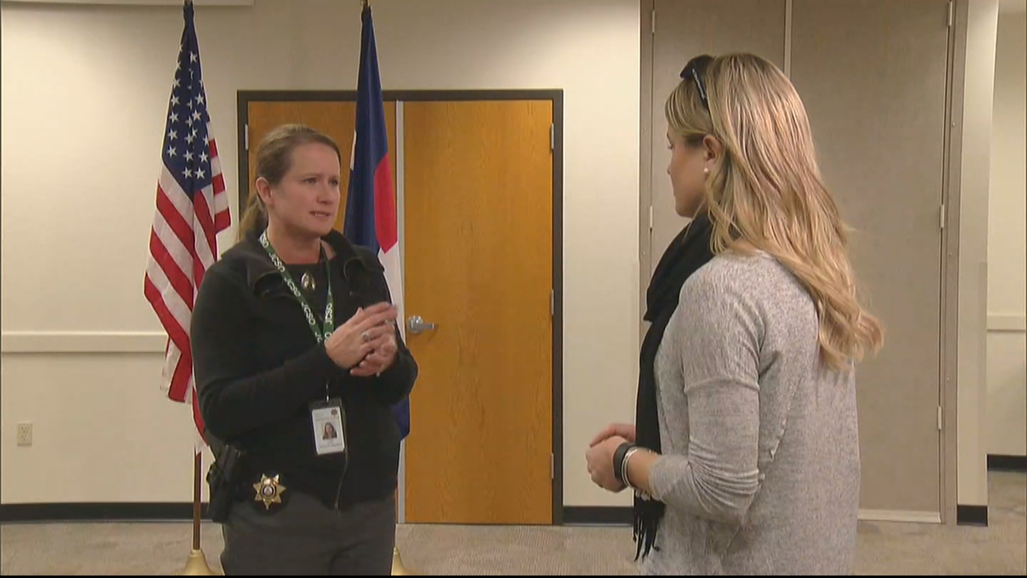 CBS4's Kelly Werthmann interviews Terry Naes with the Jefferson County Sheriff's Office (credit: CBS)