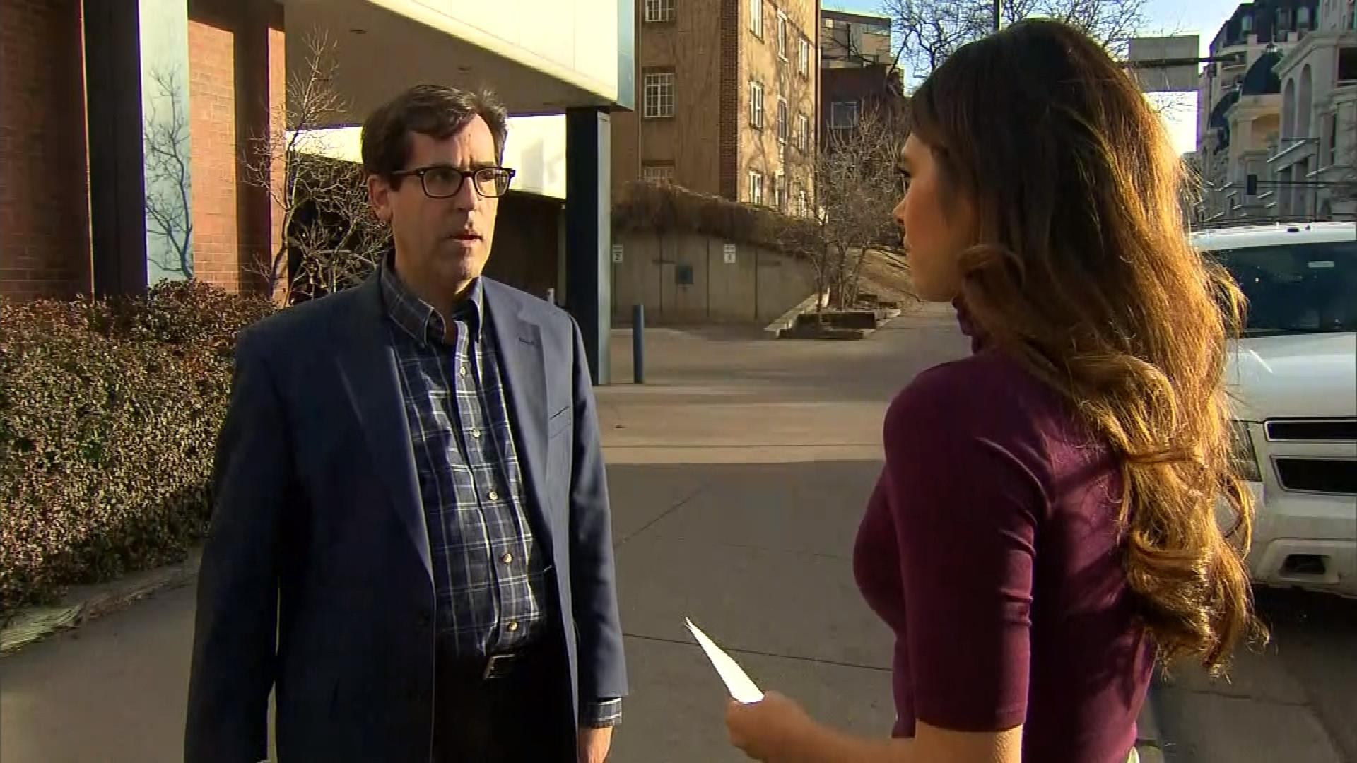 CBS4's Andrea Flores interviews Nathan Woodliff-Stanley. (credit: CBS)