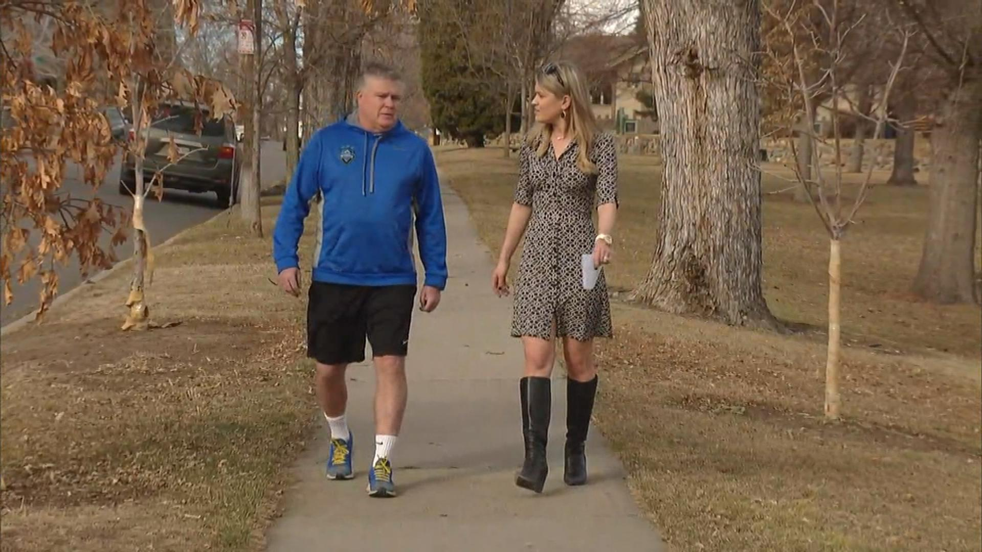 Marc Francis, a Colorado Storm Soccer coach, is interviewed by CBS4's Kelly Werthmann (credit: CBS)
