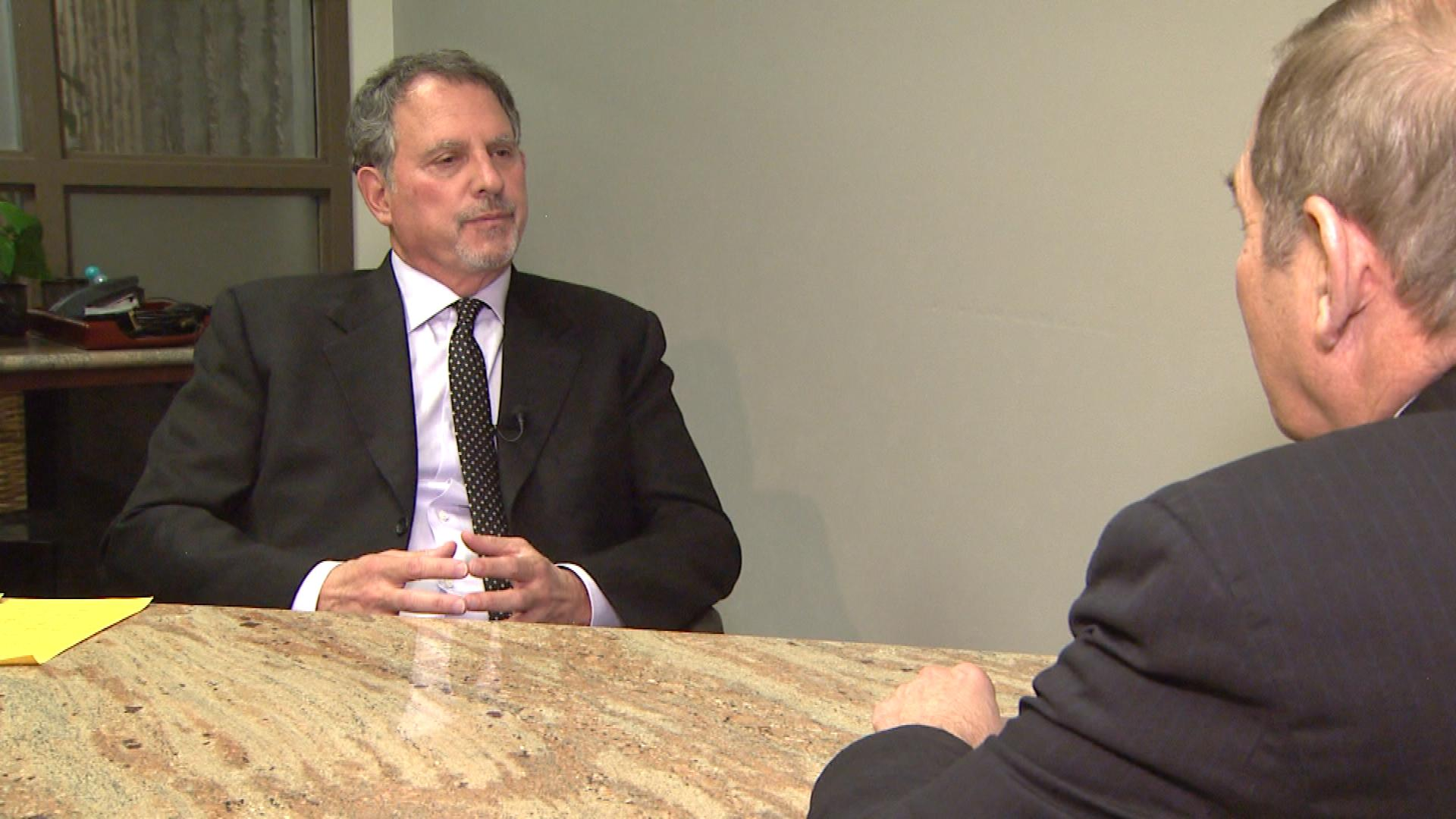 Colorado attorney Michael Burg is interviewed by CBS4's Rick Sallinger (credit: CBS)