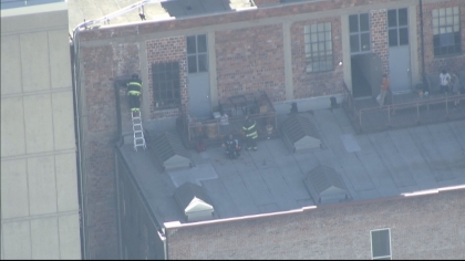 Copter4 flew over the chimney rescue (credit: CBS)