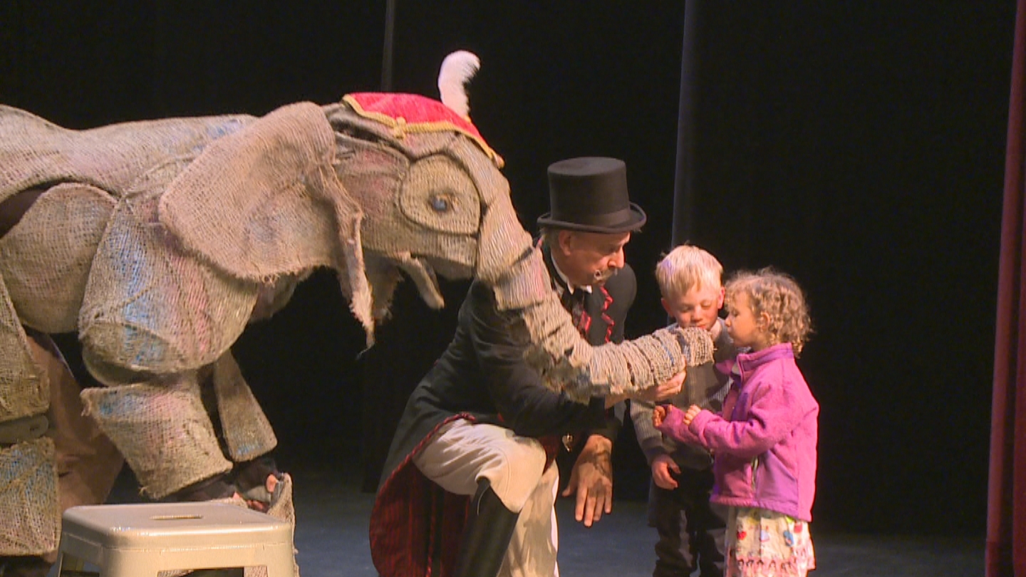 """A puppet elephant from """"Circus 1903"""" (credit CBS)"""