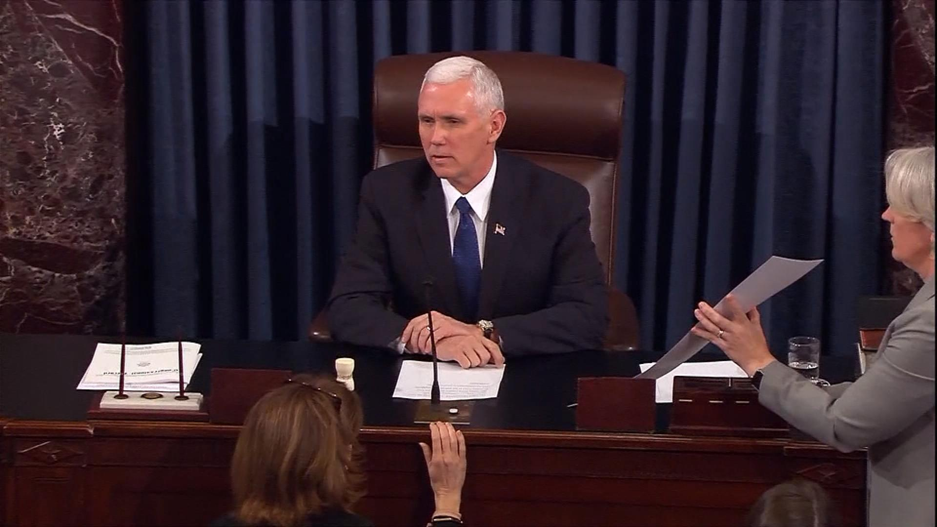 Vice President Mike Pence on Tuesday (credit: CBS)