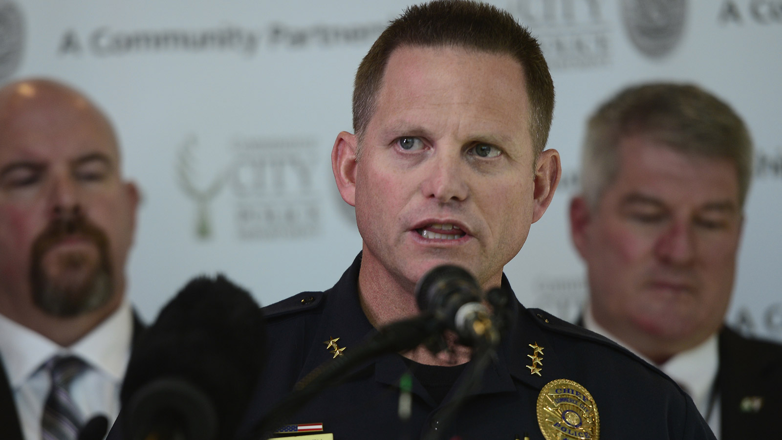 Commerce City Police Chief Troy Smith (credit: Brent Lewis/The Denver Post via Getty Images)