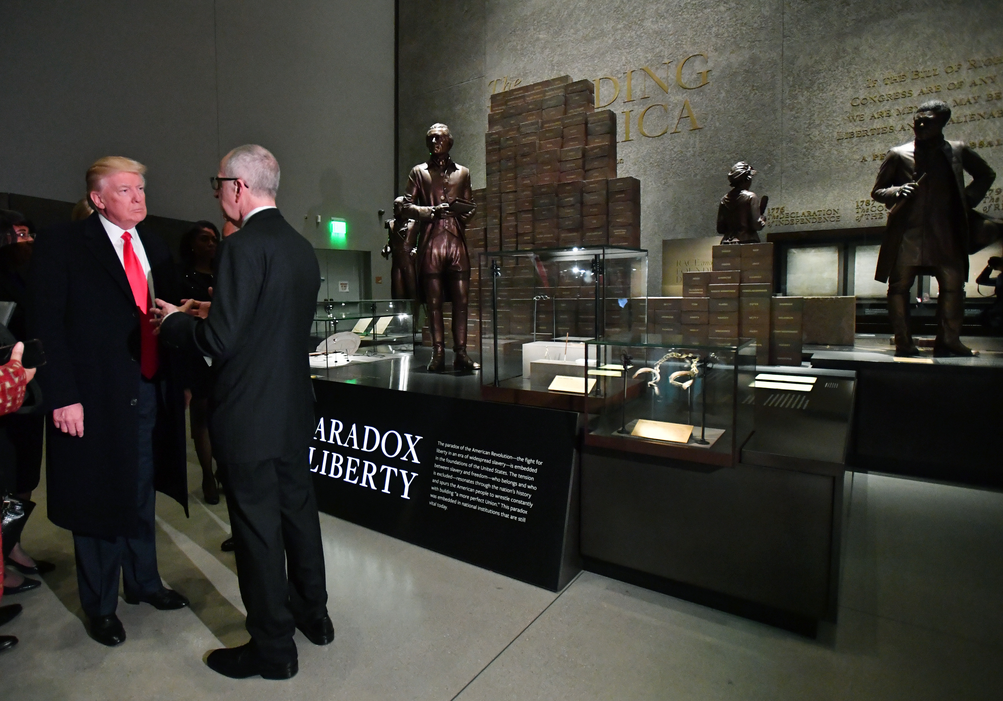 President Donald Trump visits the Smithsonian National  Museum of African American History and Culture (Photo by Kevin Dietsch - Pool/Getty Images)