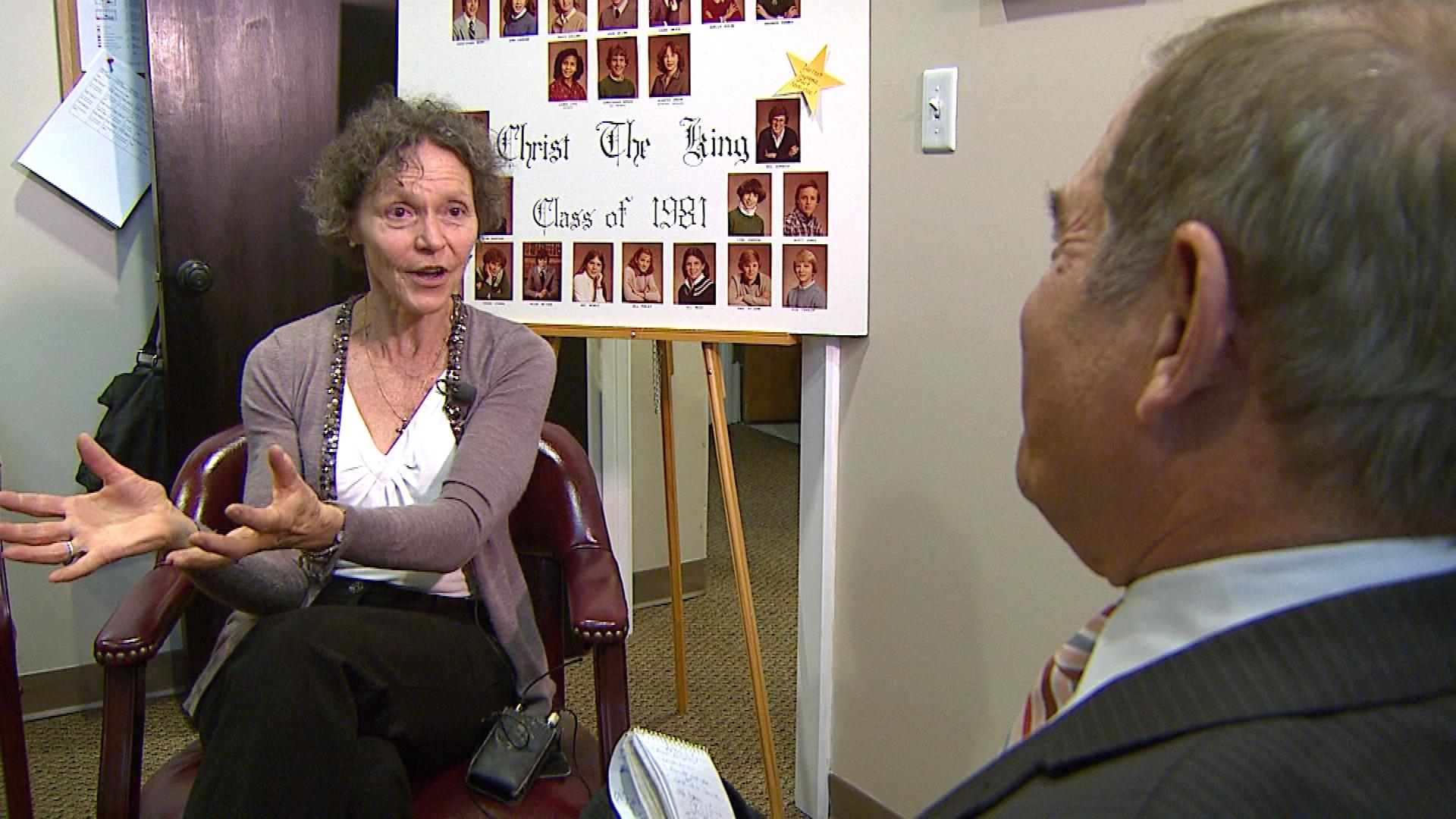 JoAnn Ehrlich is interviewed by CBS4's Rick Sallinger (credit: CBS)