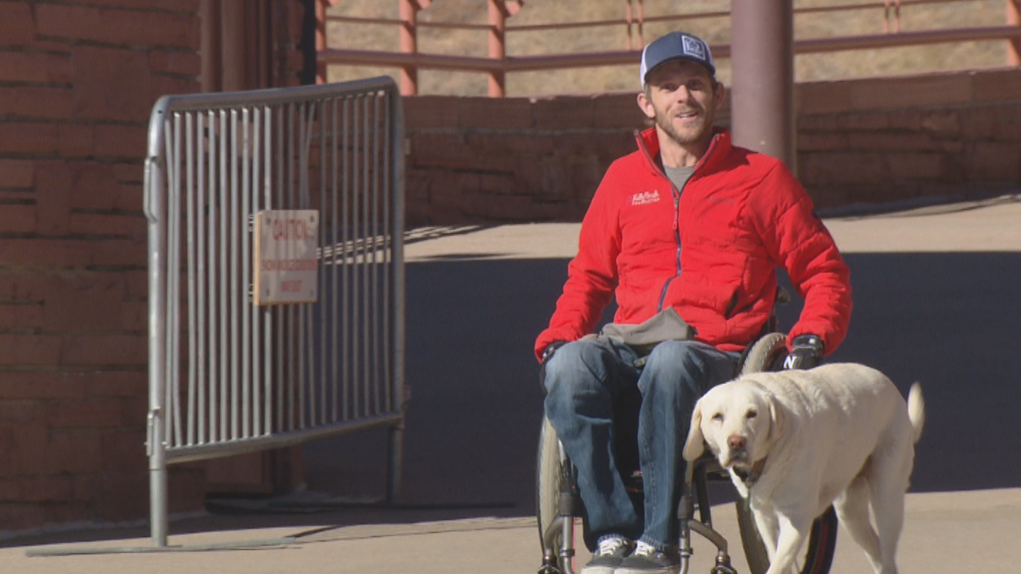 Kirk Williams is a plaintiff in a lawsuit over accessiblity at Red Rocks (credit CBS)