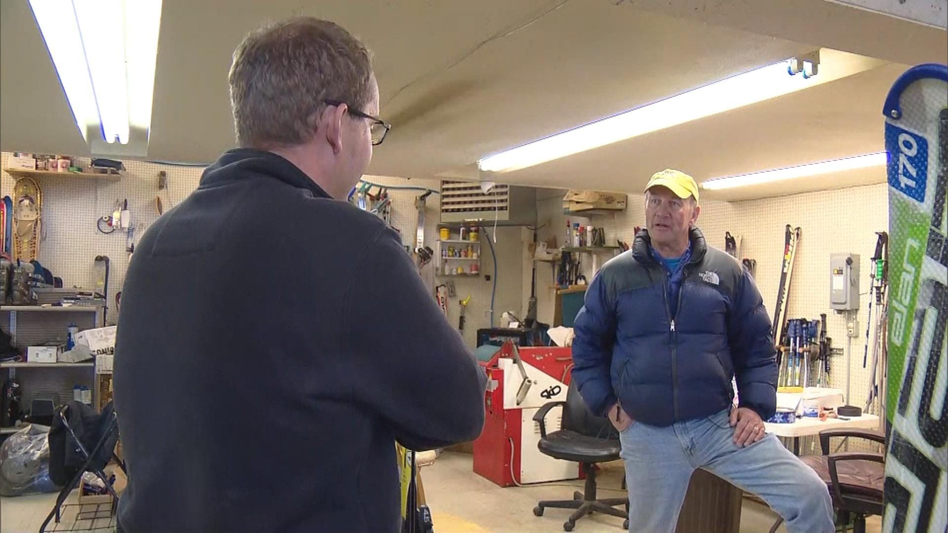 CBS4's Matt Kroschel interviews Paul Cooper (credit: CBS)