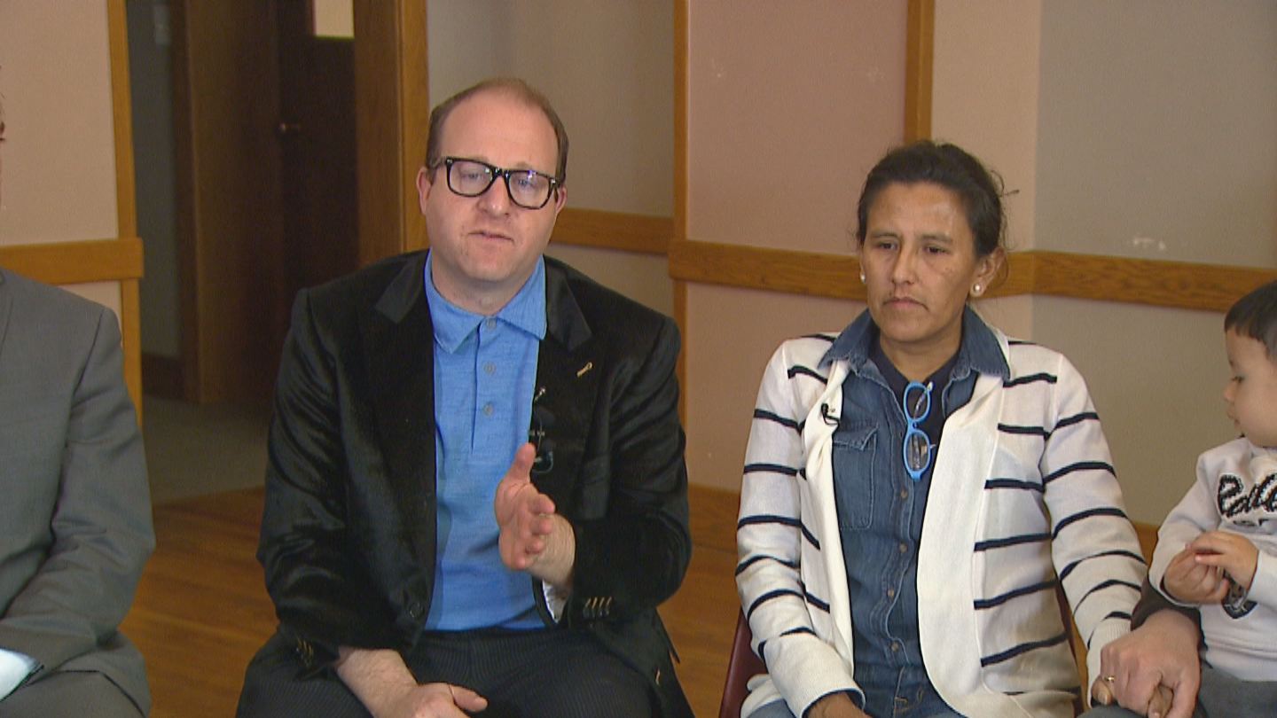 Congressman Jared Polis and Jeanette Vizguerra (credit: CBS)