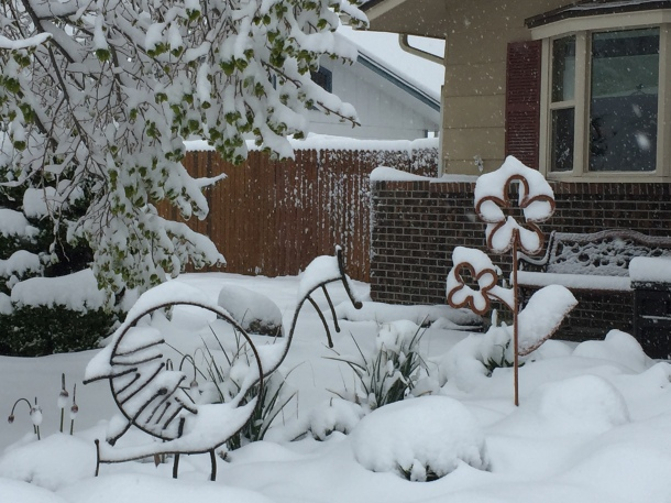 Heavy Spring Snow In Littleton