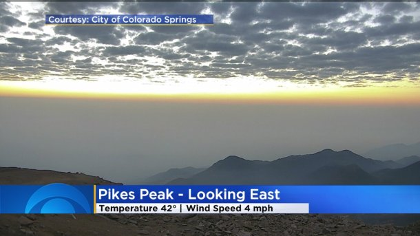 Wildfire Smoke Seen From Pikes Peak
